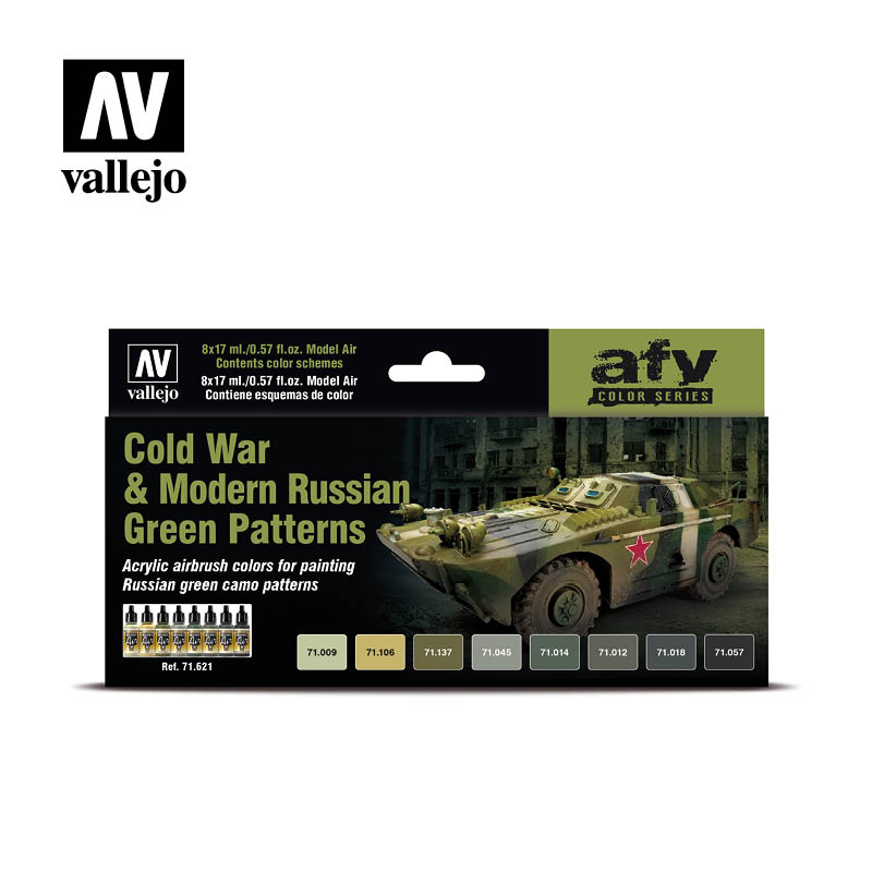 Vallejo AFV - Cold War & Modern Russian Green Patterns