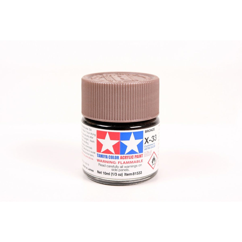 Acrylic Mini X-33 Bronze 10Ml Bottle / Tamiya USA