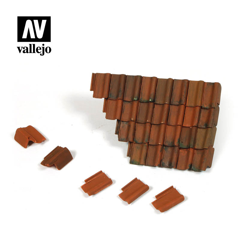 Vallejo Scenics - Damaged Roof Section and Tiles