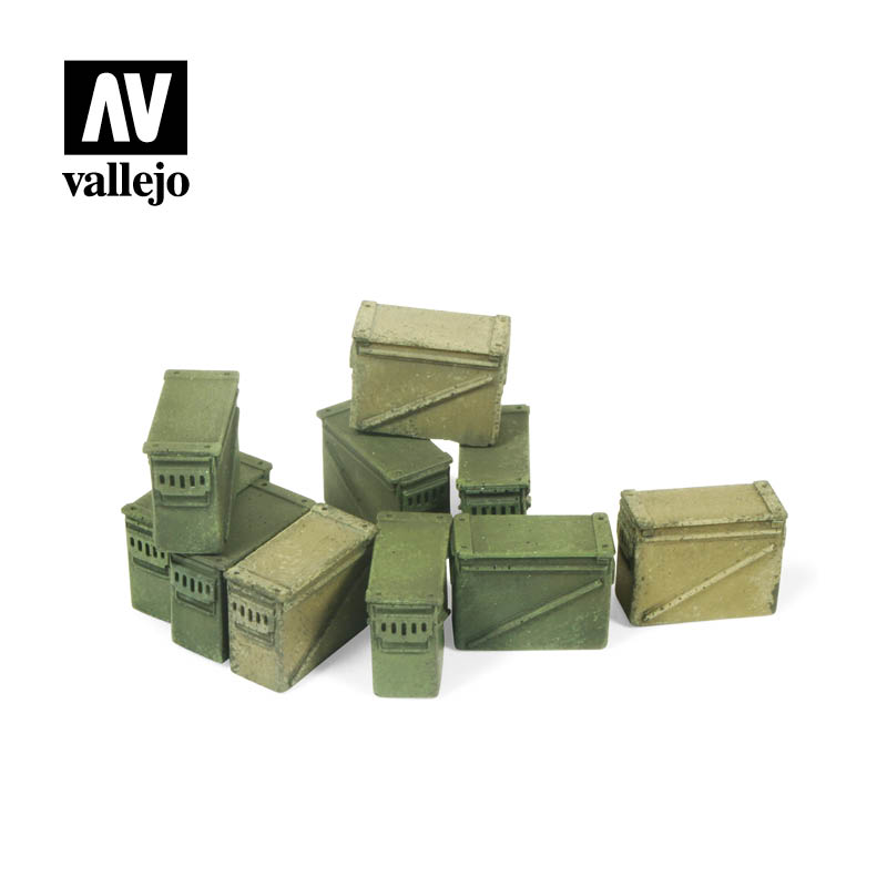 Vallejo Scenics - Large Ammo Boxes 12,7 mm