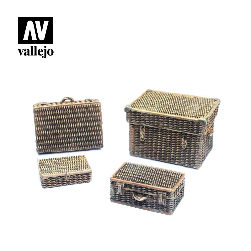 Vallejo Scenics - Wicker Suitcases