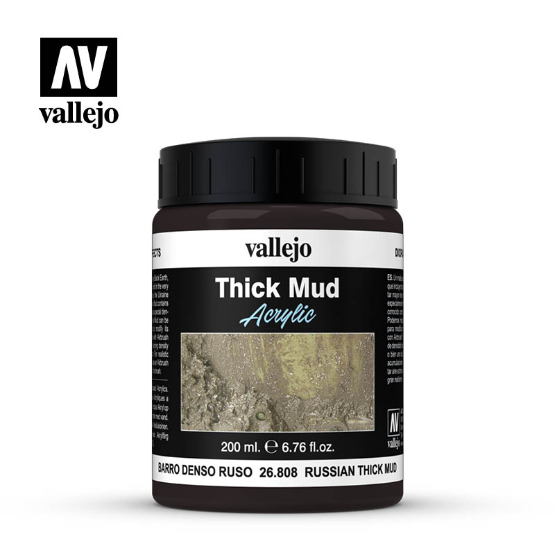 Russian Thick Mud 26808 is a brown color with traces of vegetation