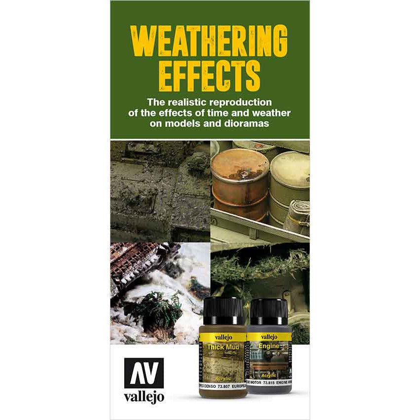 Vallejo WEATHER EFFECT COLOR  CHART for models and miniatures