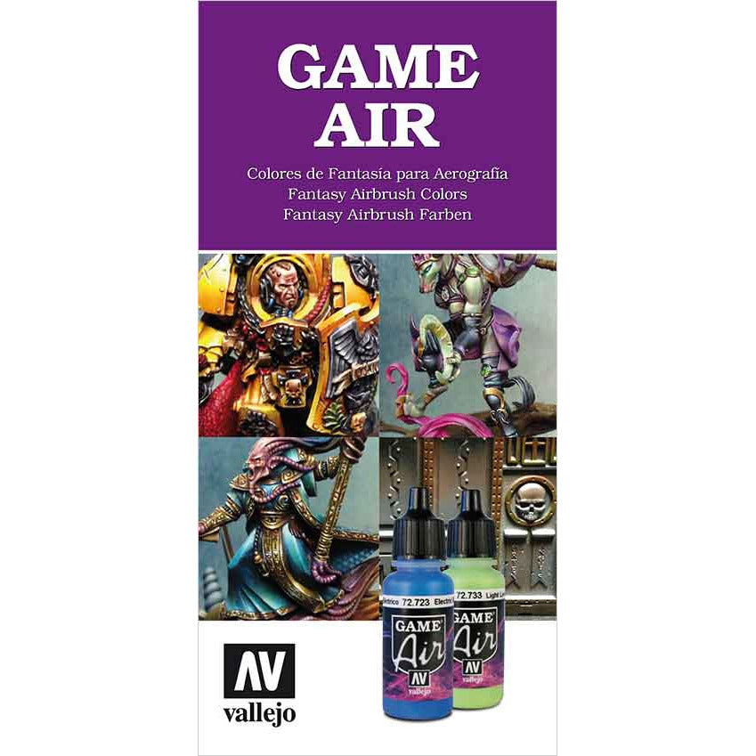 Vallejo GAME AIR COLOR CHART for models and miniatures