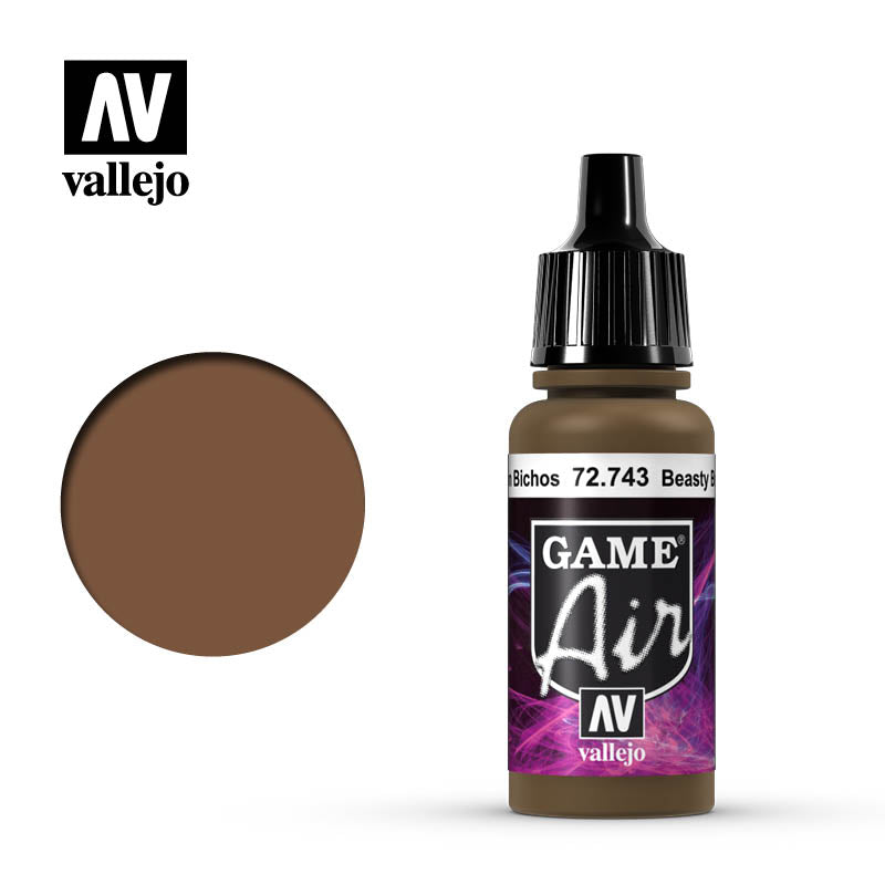 Vallejo Game Air color Beasty Brown 72701 for airbrushing