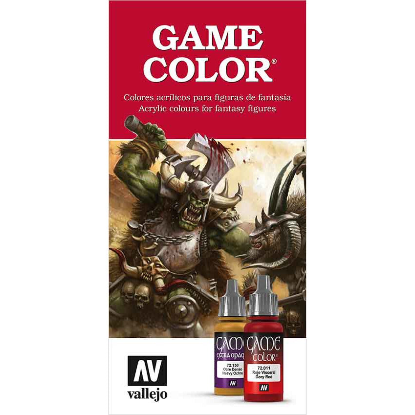 Vallejo GAME COLOR COLOR CHART for models and miniatures
