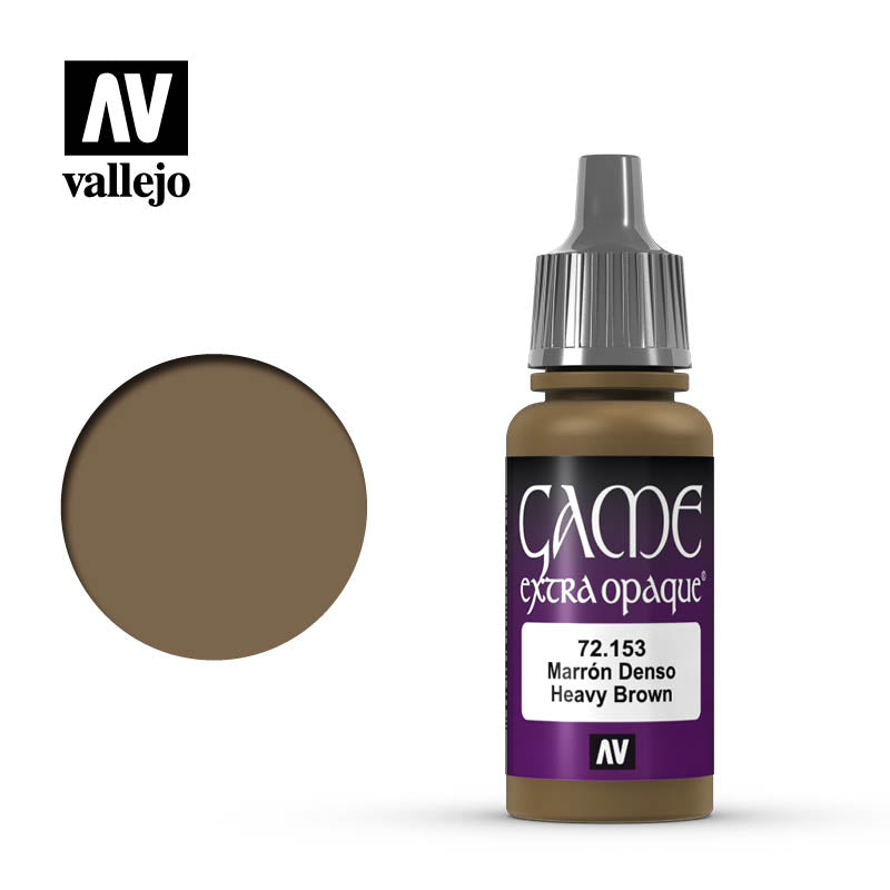 Vallejo Game Color Heavy Brown 72153 for painting miniatures