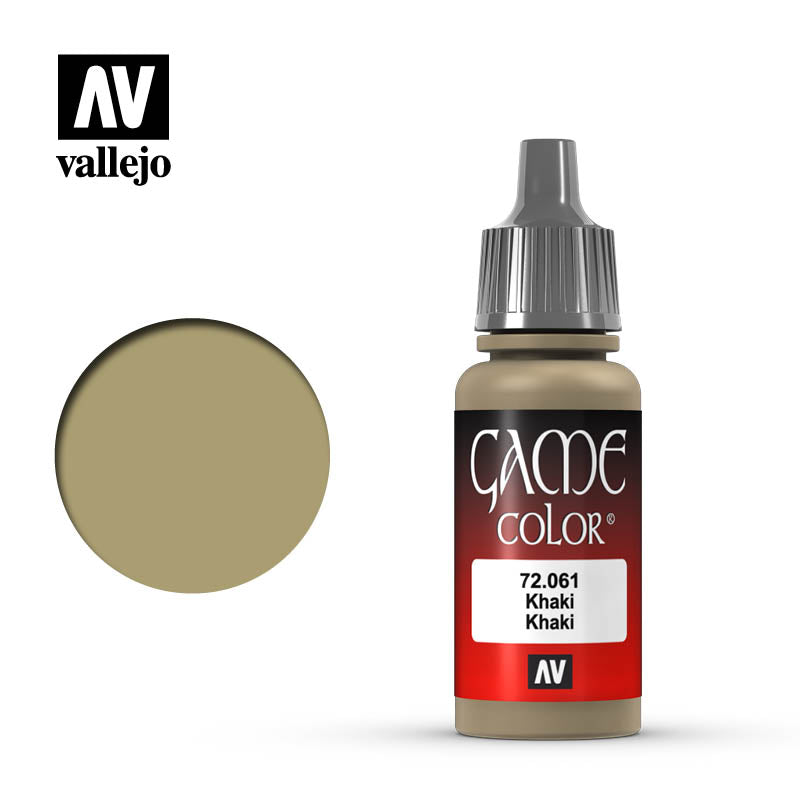 Vallejo Game Color Khaki 72061 for painting miniatures