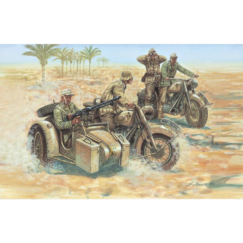 Italeri-1-72-GERMAN-MOTORCYCLES
