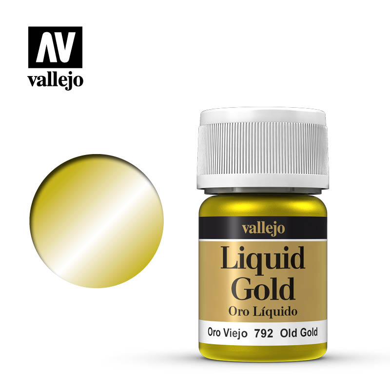 Vallejo Liquid Gold Old Gold 70792 is available in 35 ml pots