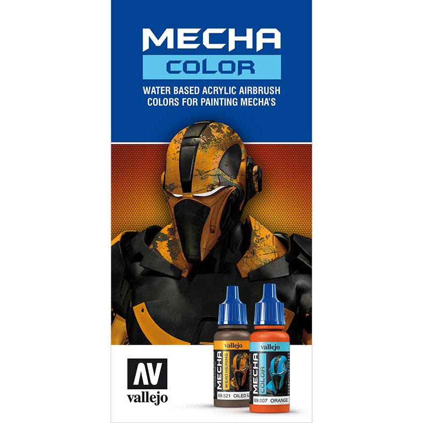Vallejo MECHA COLOR CHART for models and miniatures