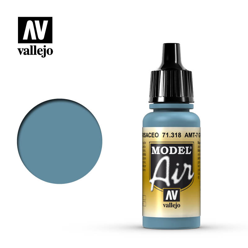 Model Air Vallejo AMT-7 Greyish Blue 71318 acrylic airbrush color