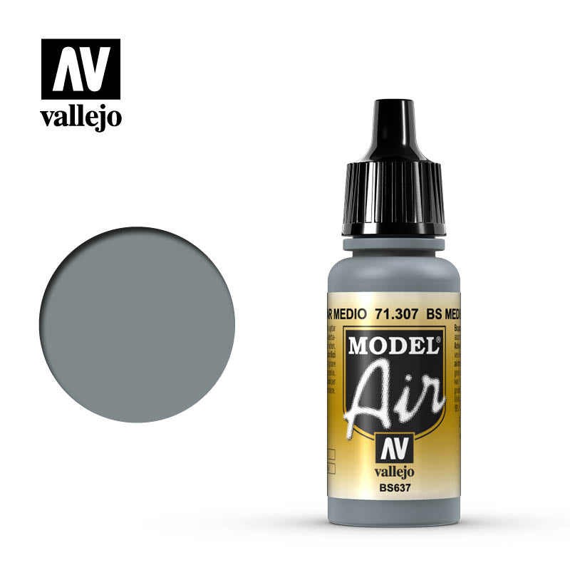 Model Air Vallejo BS Medium Sea Grey 71307 acrylic airbrush color