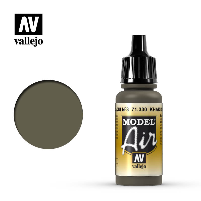 Model Air Vallejo Khaki Green Num.3 71330 acrylic airbrush color