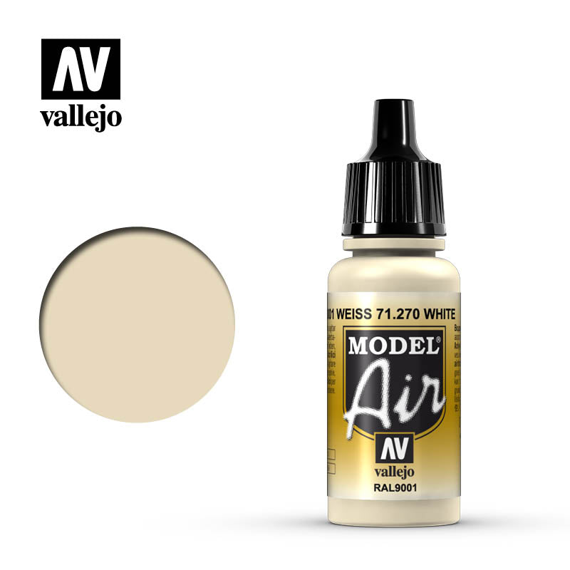 Model Air Vallejo RAL9001 Off-White 71270 acrylic airbrush color