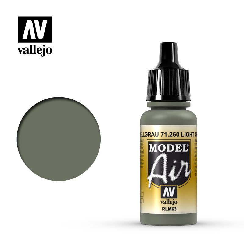Model Air Vallejo RLM63 Light Grey 71260 acrylic airbrush color