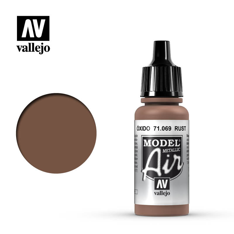 Model Air Vallejo Rust (Metallic) 71069 acrylic airbrush color