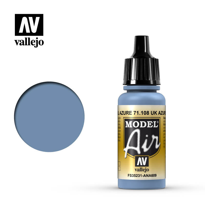 Model Air Vallejo Uk Azure Blue 71108 acrylic airbrush color