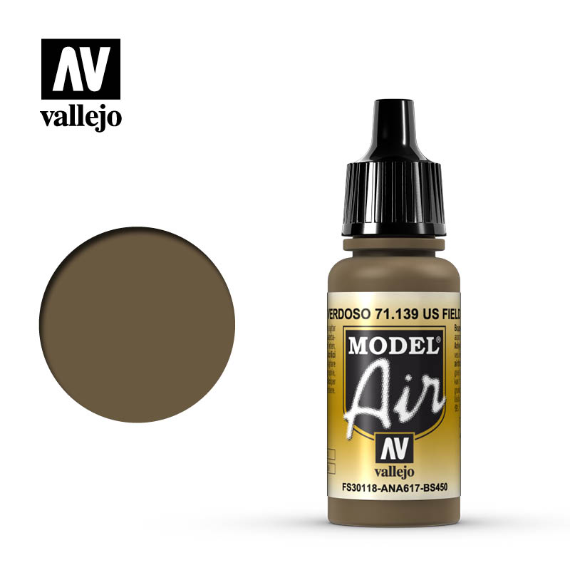 Model Air Vallejo US Field Drab 71139 acrylic airbrush color