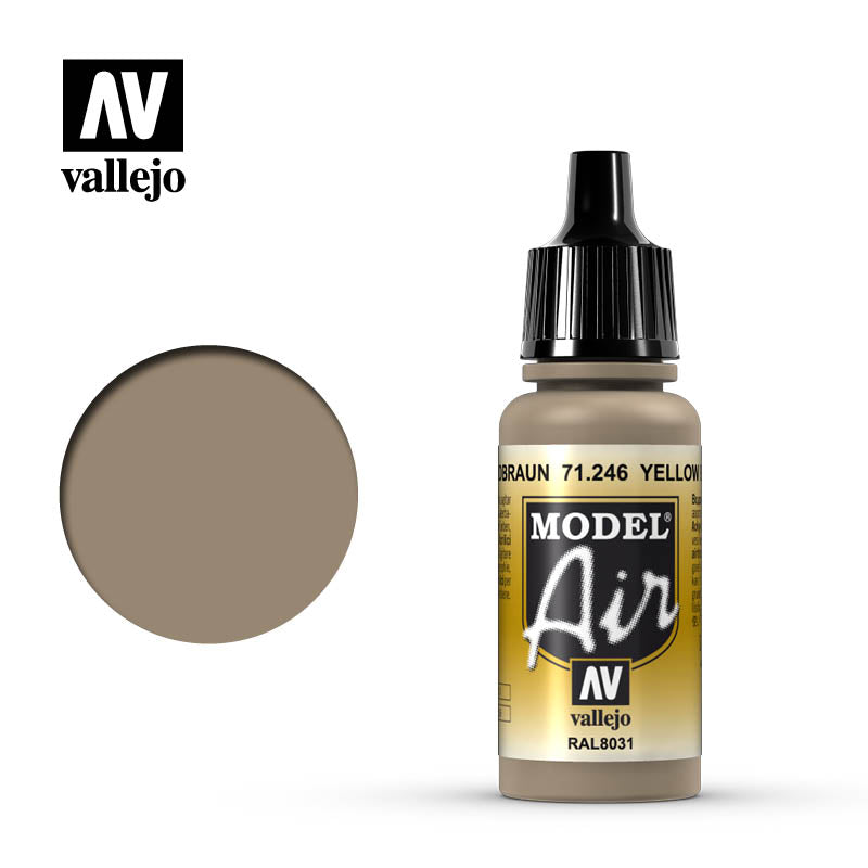 Model Air Vallejo Yellow Brown 71246 acrylic airbrush color