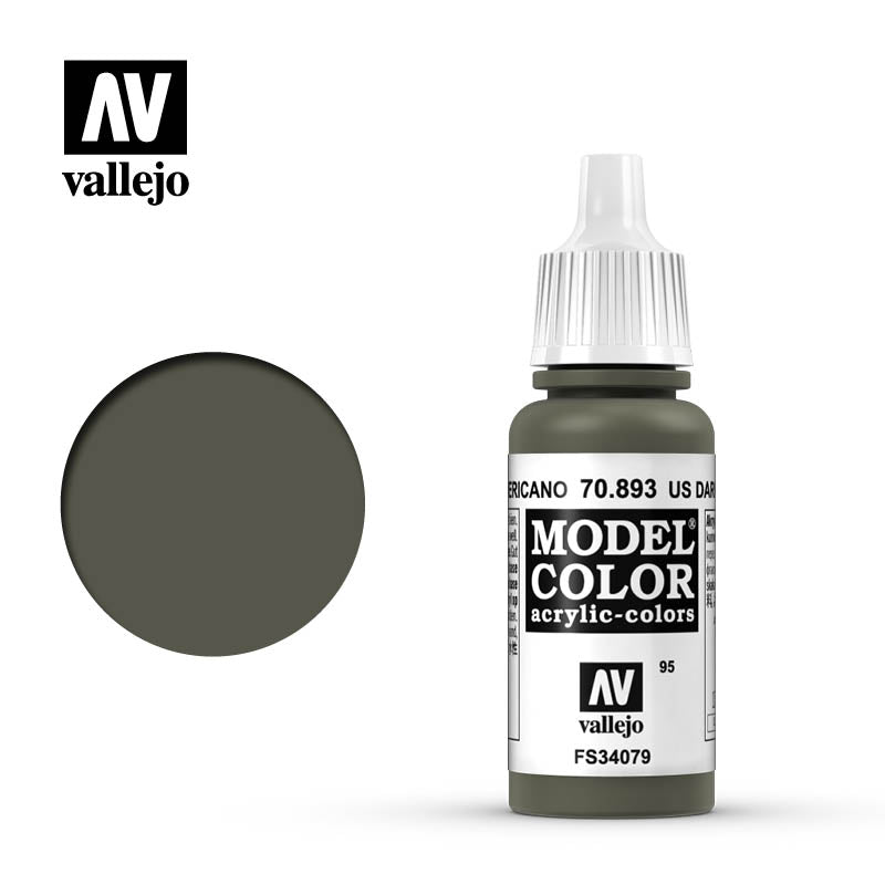 Vallejo Model Color US Dark Green 70893 for painting miniatures