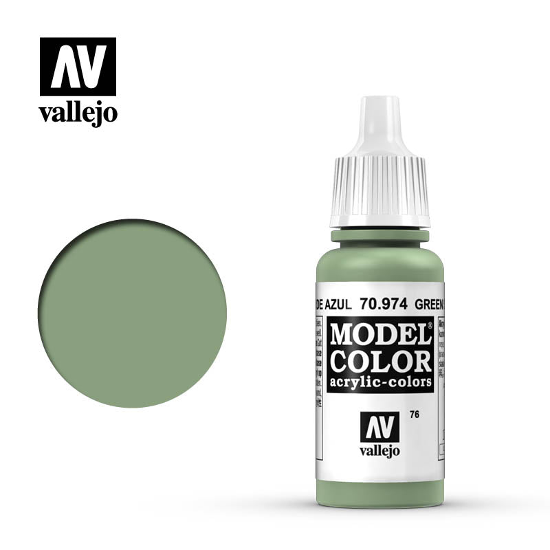 Vallejo Model Color Green Sky 70974 for painting miniatures