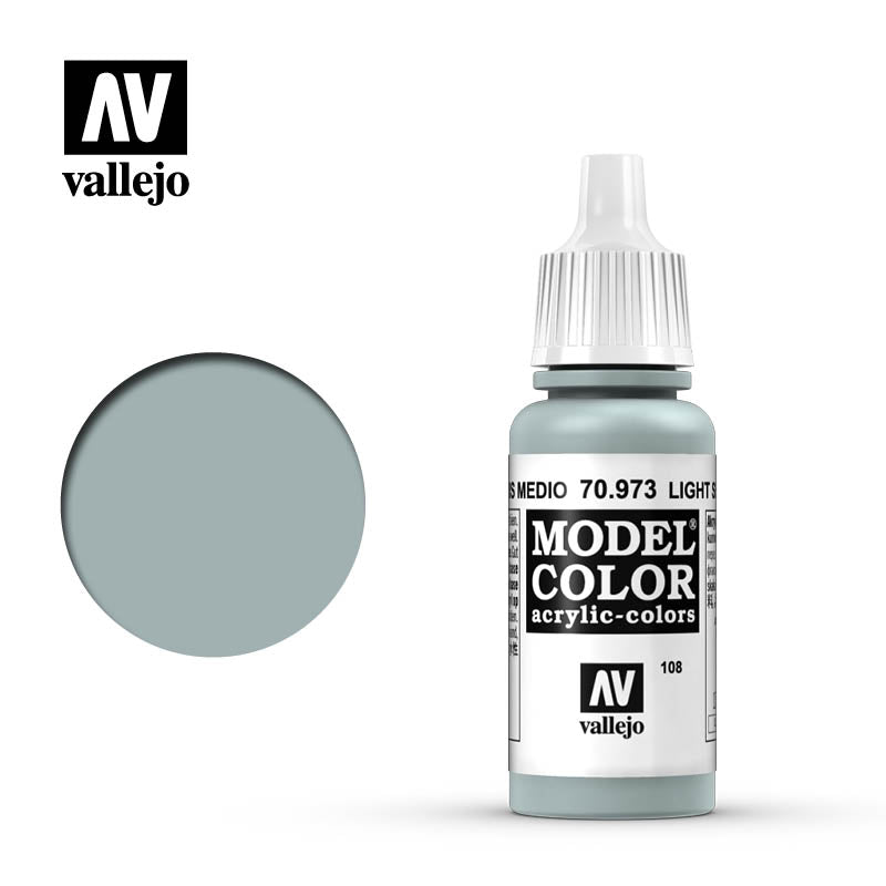Vallejo Model Color Light Sea Grey 70973 for painting miniatures