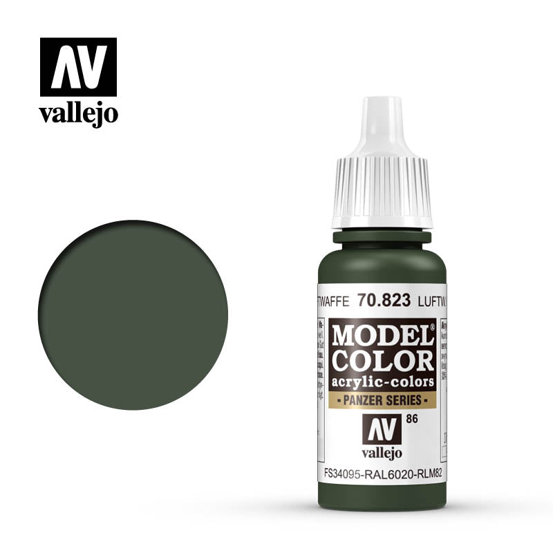 Vallejo Model Color Luftwaffe Camo.Green 70823 for painting miniatures