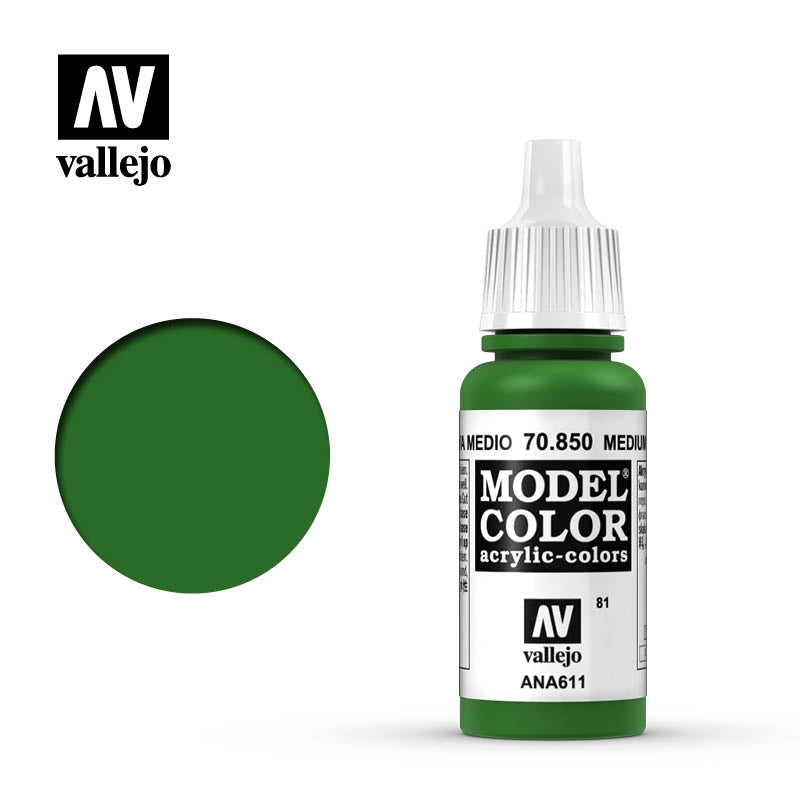 Vallejo Model Color Medium Olive 70850 for painting miniatures