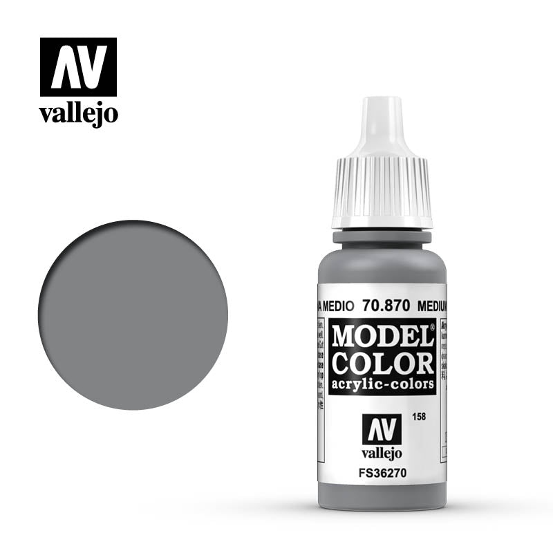 Vallejo Model Color Medium Sea Grey 70870 for painting miniatures