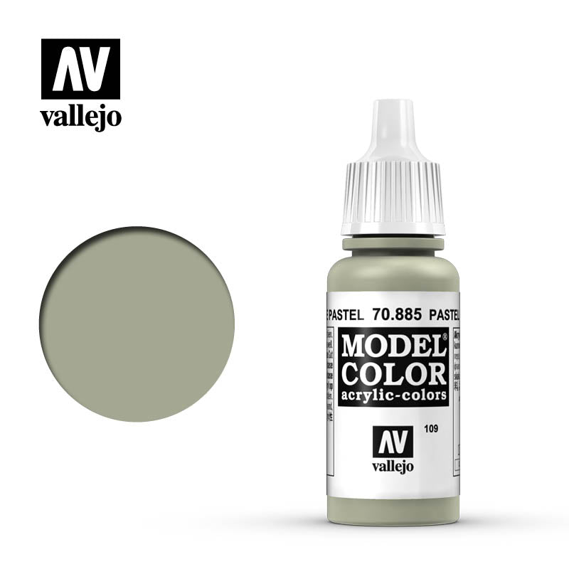 Vallejo Model Color Pastel Green 70885 for painting miniatures