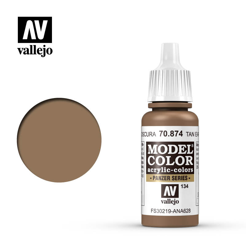Vallejo Model Color Tan Earth 70874 for painting miniatures