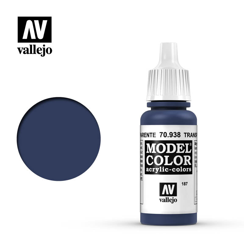 Vallejo Model Color Transparent Blue 70938 for painting miniatures