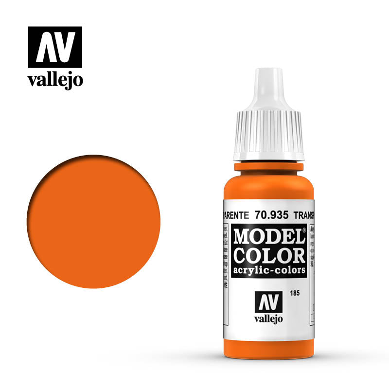 Vallejo Model Color Transparent Orange70935 for painting miniatures