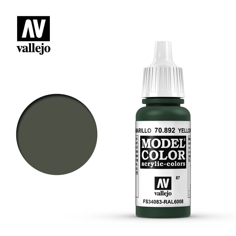 Vallejo Model Color Yellow Olive 70892 for painting miniatures