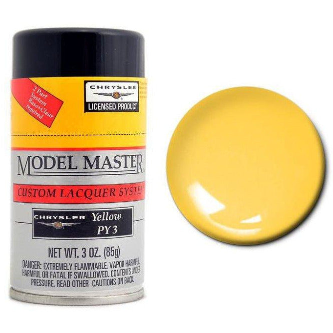 Testors Auto Lacquer Spray CHRYSLER - YELLOW