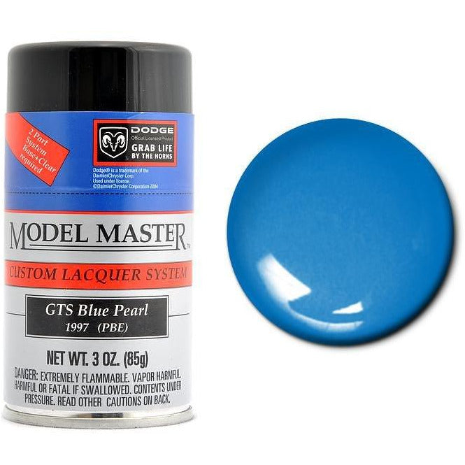 Testors Auto Lacquer Spray Blue Pearl - Semi-Gloss