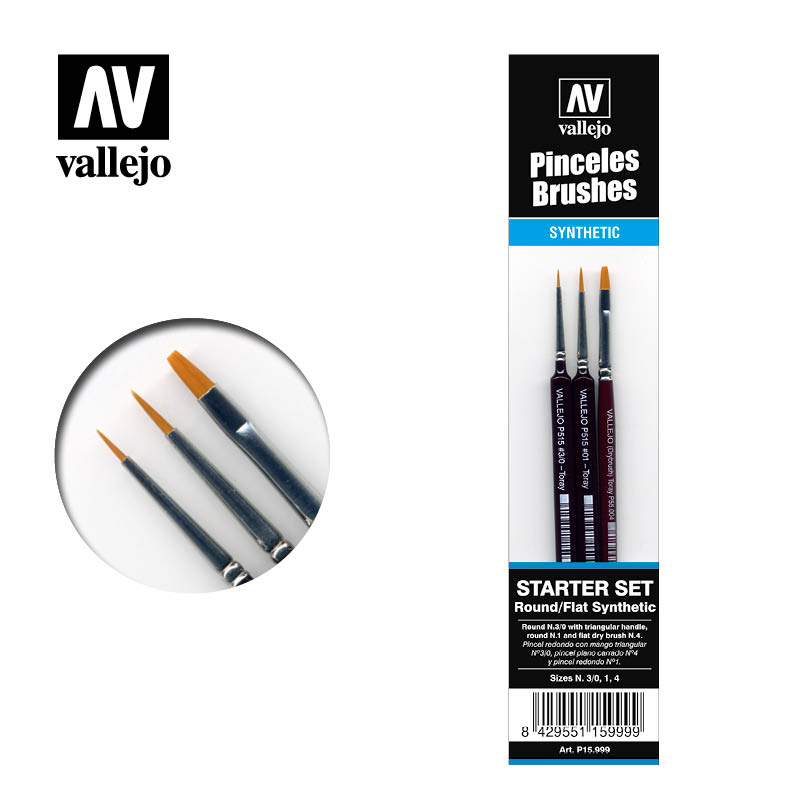 Vallejo Brushes - Starter set synthetic