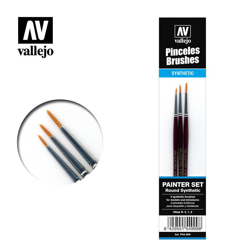 Vallejo Brushes - Painter set (Round synthetic)