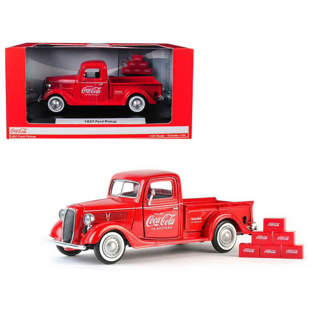 Motor City Classics 1:24 1937 Ford Coca-Cola Pickup with 6 Bottle Cartons