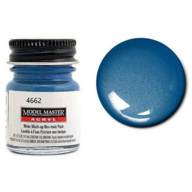 Testors Acrylic Paint Arctic Blue Metallic - Gloss