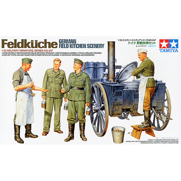 Tamiya 1/35 Scale GERMAN FIELD KITCHEN SCENERY