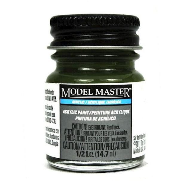 Testors Acrylic Paint Dark Green - Flat