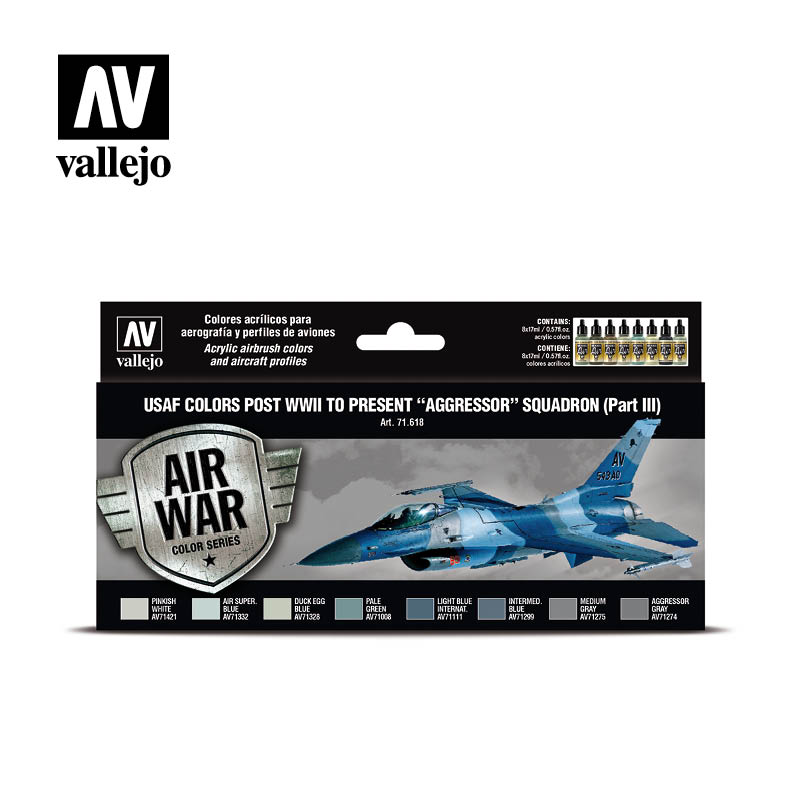 "Vallejo Air War - USAF colors post WWII to present ""Aggressor"" Squadron (Part III)"
