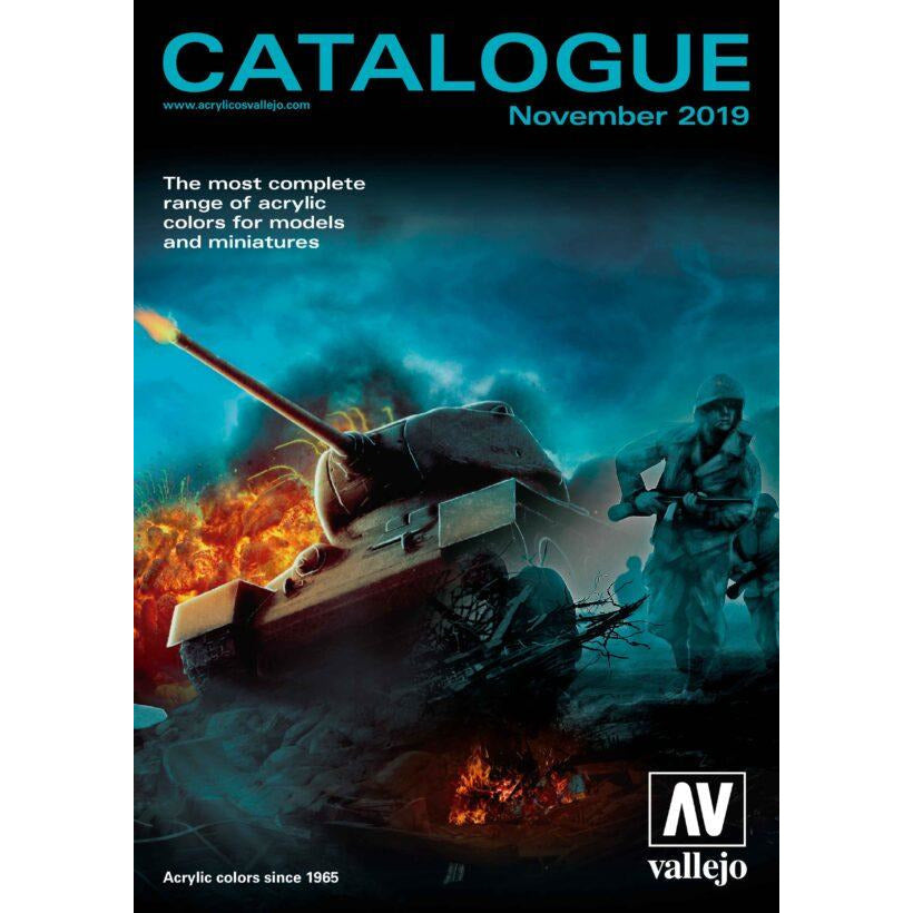 Vallejo CATALOGUE COLOR CHARTS for models and miniatures