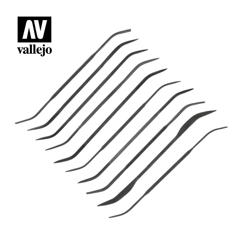 Vallejo Hobby Tools - Set of 10 Curved Files