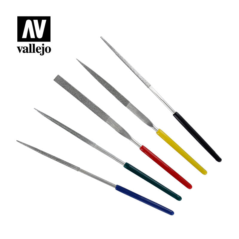 Vallejo Hobby Tools - Set of 5 Mini Diamond Files