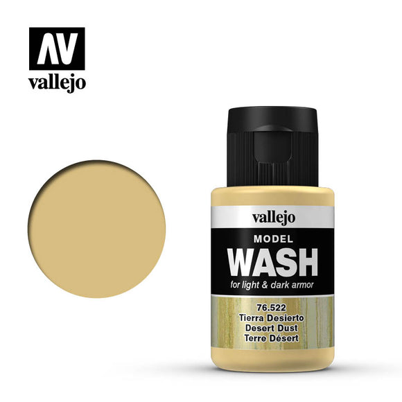 Vallejo Model Wash Desert Dust 76522 in 35 ml bottles