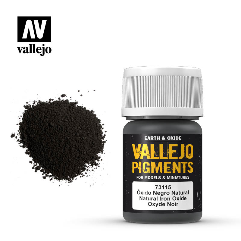 Vallejo Pigment Natural Iron Oxide 73115 in 35 ml bottles