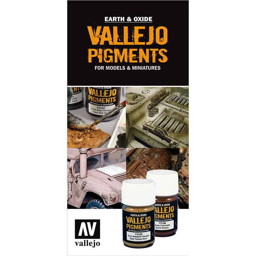 Vallejo PIGMENTS COLOR CHART for models and miniatures